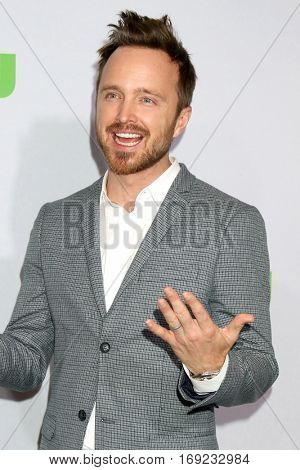 PASADENA - JAN 7:  Aaron Paul at the HULU TCA Winter 2017 Photo Call at the Langham Hotel on January 7, 2015 in Pasadena, CA