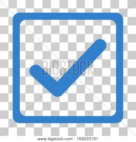 Checkbox icon. Vector illustration style is flat iconic symbol cobalt color transparent background. Designed for web and software interfaces.