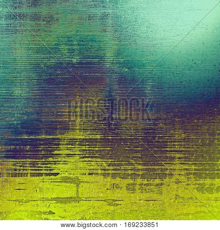 Rough textured backdrop, abstract vintage background with different color patterns: yellow (beige); green; blue; purple (violet); gray; cyan