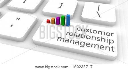 Customer Relationship Management or CRM as Concept 3D Illustration Render