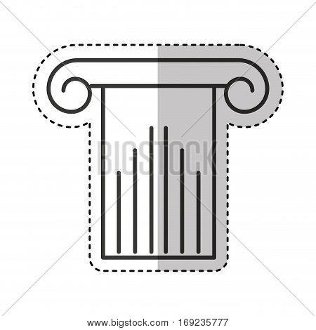 roman column isolated icon vector illustration design