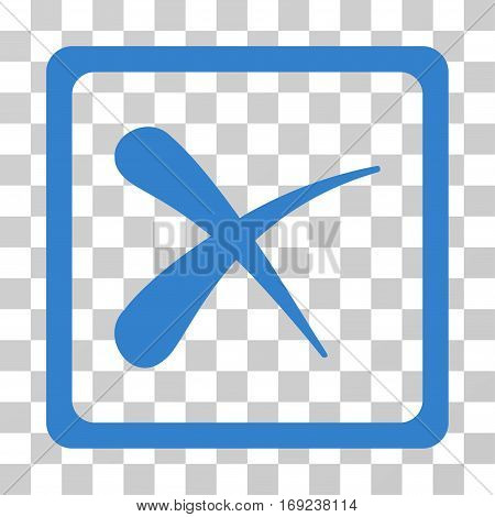 Reject icon. Vector illustration style is flat iconic symbol cobalt color transparent background. Designed for web and software interfaces.