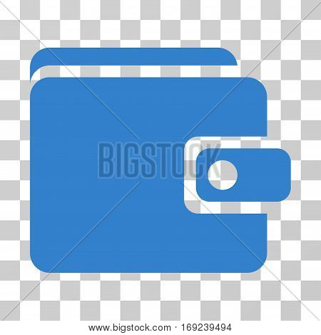Wallet icon. Vector illustration style is flat iconic symbol cobalt color transparent background. Designed for web and software interfaces.