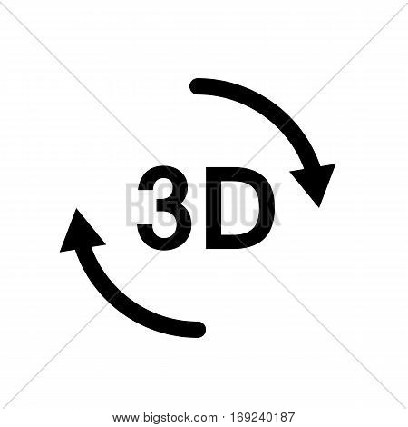 3d icon on white background. 3d sign.