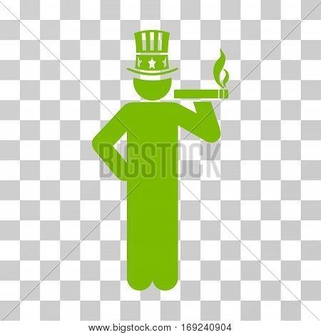 Capitalist icon. Vector illustration style is flat iconic symbol eco green color transparent background. Designed for web and software interfaces.