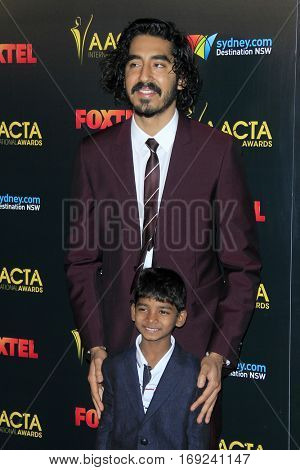 LOS ANGELES - JAN 6:  Dev Patel, Sunny Pawar at the 6th AACTA International Awards at 229 Images on January 6, 2017 in Los Angeles, CA