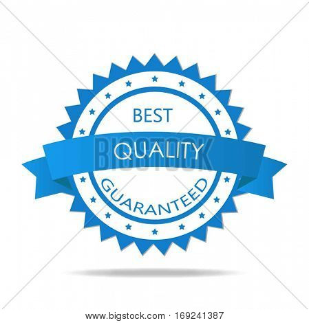 Quality guaranteed badge illustration on a white background