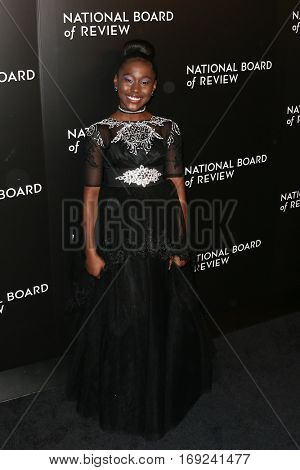 NEW YORK-JAN 4: Actress Royalty Hightower attends the National Board of Review Gala at Cipriani Wall Street in New York on January 4, 2017.
