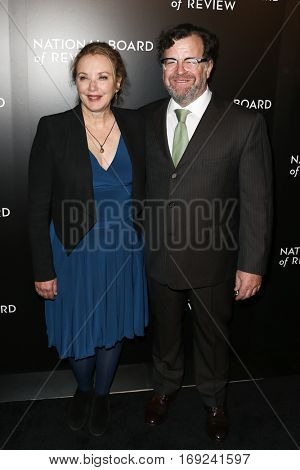 NEW YORK-JAN 4: Director Kenneth Lonergan (R) and J. Smith-Cameron attend the National Board of Review Gala at Cipriani Wall Street in New York on January 4, 2017.