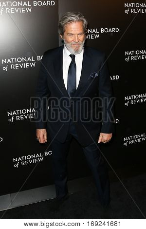 NEW YORK-JAN 4: Actor Jeff Bridges attends the National Board of Review Gala at Cipriani Wall Street in New York on January 4, 2017.