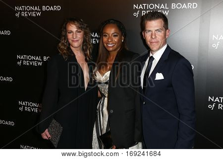 NEW YORK-JAN 4: Producers Lauren Beck, Kimberly Steward and Kevin Walsh attend the National Board of Review Gala at Cipriani Wall Street in New York on January 4, 2017.