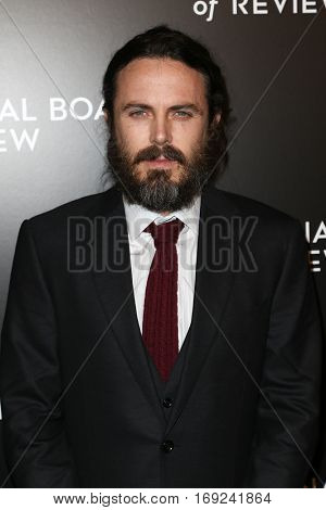 NEW YORK-JAN 4: Actor Casey Affleck attends the National Board of Review Gala at Cipriani Wall Street in New York on January 4, 2017.