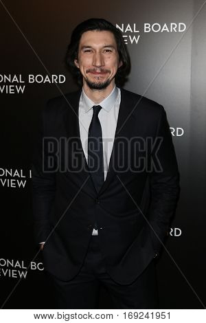 NEW YORK-JAN 4: Actor Adam Driver attends the National Board of Review Gala at Cipriani Wall Street in New York on January 4, 2017.