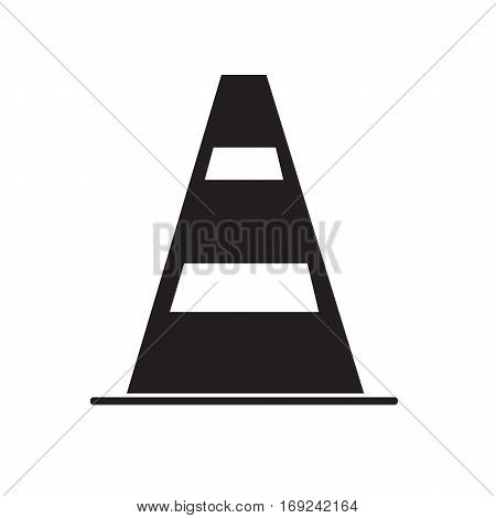 construction barrier icon on white background. construction barrier sign.