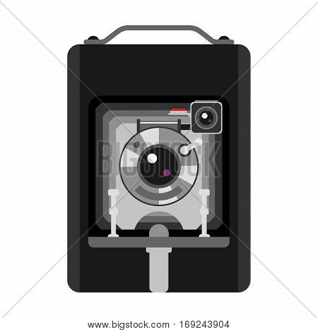 Camera photo optic lense on white background. Different types objective retro equipment, professional look. Vintage technology electronic aperture device.