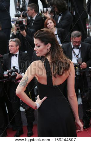 Isabeli Fontana attends 'The Unknown Girl (La Fille Inconnue)' Premiere duirng the annual 69th Cannes Film Festival at Palais des Festivals on May 18, 2016 in Cannes, France.