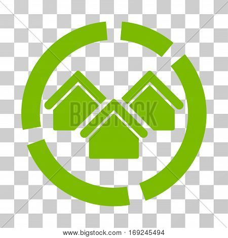 Realty Diagram icon. Vector illustration style is flat iconic symbol eco green color transparent background. Designed for web and software interfaces.