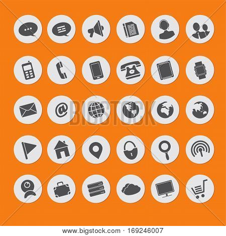 big set of vector icons of multimedia
