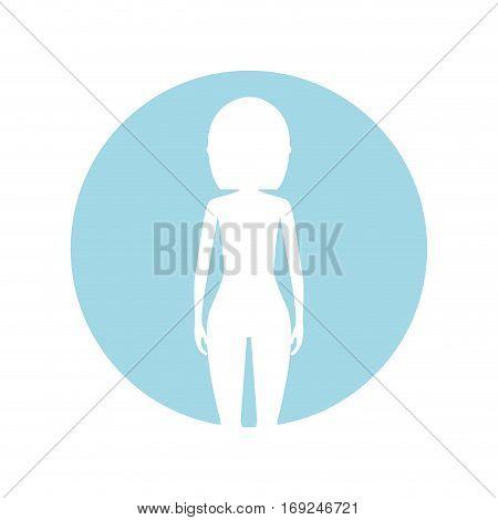 symbol figure body woman icon image, vector illustration