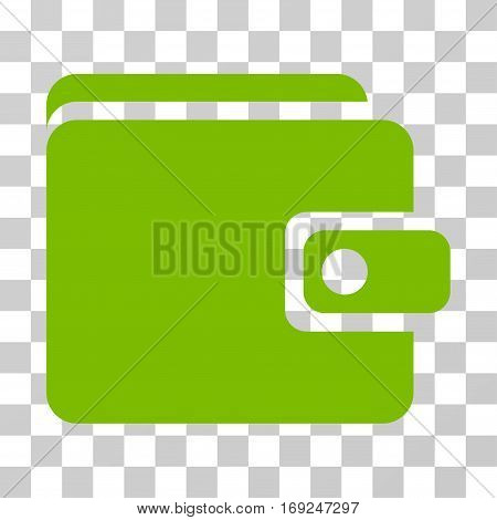 Wallet icon. Vector illustration style is flat iconic symbol eco green color transparent background. Designed for web and software interfaces.