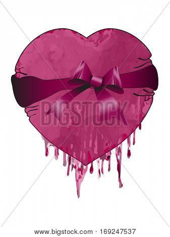 Valentines heart with bow