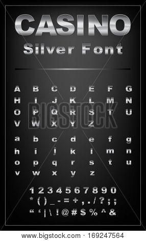 Casino silver font