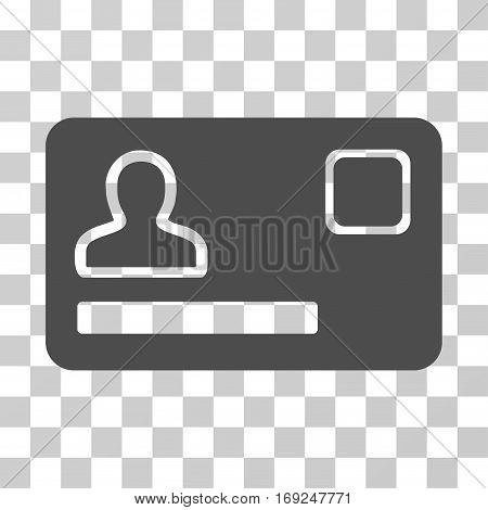 Banking Card icon. Vector illustration style is flat iconic symbol gray color transparent background. Designed for web and software interfaces.