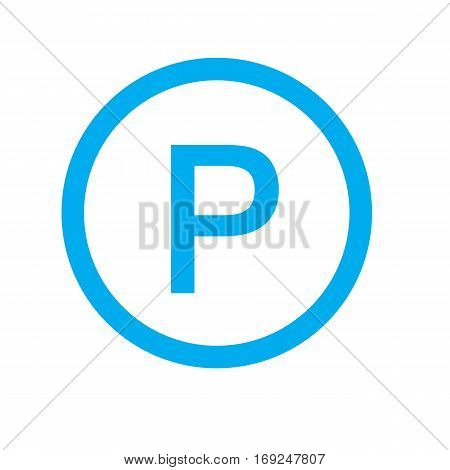 parking icon on white background. parking sign.