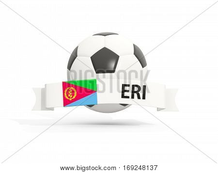 Flag Of Eritrea, Football With Banner And Country Code