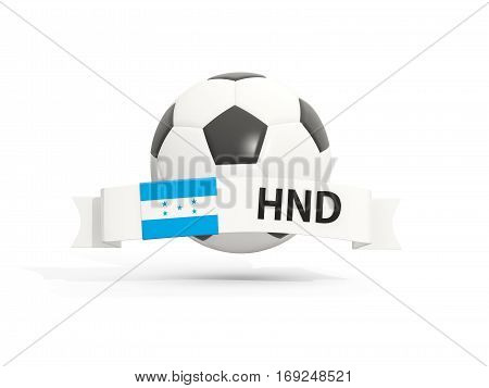 Flag Of Honduras, Football With Banner And Country Code