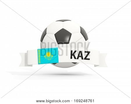 Flag Of Kazakhstan, Football With Banner And Country Code