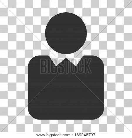 Client icon. Vector illustration style is flat iconic symbol gray color transparent background. Designed for web and software interfaces.