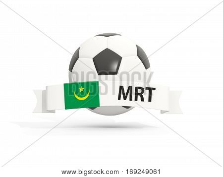 Flag Of Mauritania, Football With Banner And Country Code