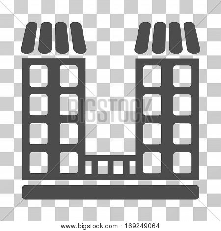 Company icon. Vector illustration style is flat iconic symbol gray color transparent background. Designed for web and software interfaces.