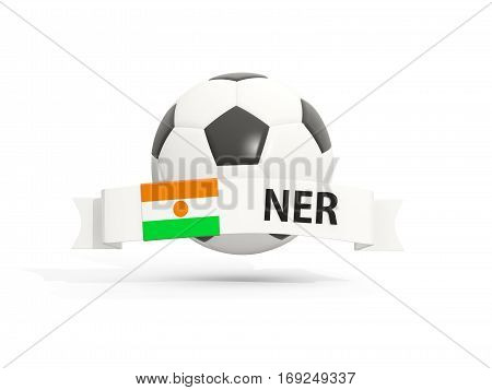Flag Of Niger, Football With Banner And Country Code