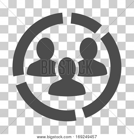 Demography Diagram icon. Vector illustration style is flat iconic symbol gray color transparent background. Designed for web and software interfaces.