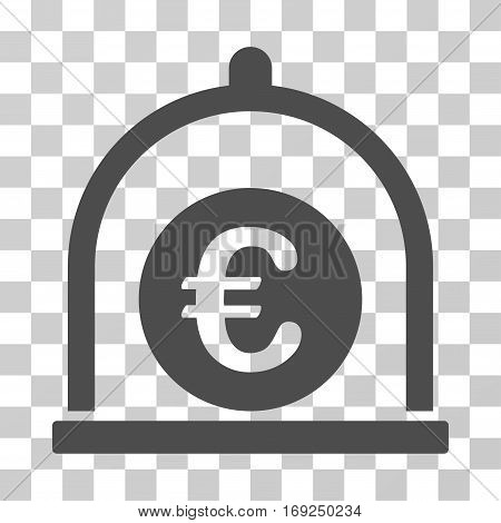 Euro Standard icon. Vector illustration style is flat iconic symbol gray color transparent background. Designed for web and software interfaces.