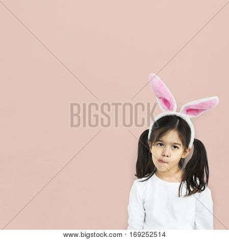 Little Girl With Bunny Ears Curious Studio