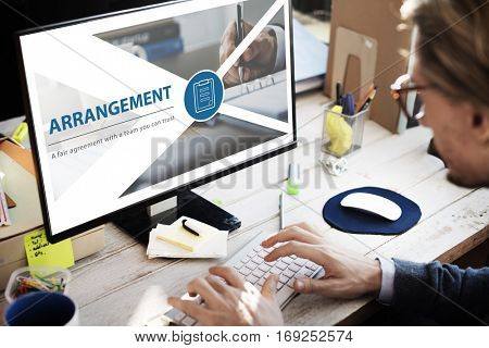 Contract fair agreement webpage interface