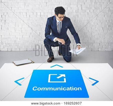 Internet Communication Social Network Concept