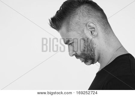 Man Serious Studio Portrait Concept