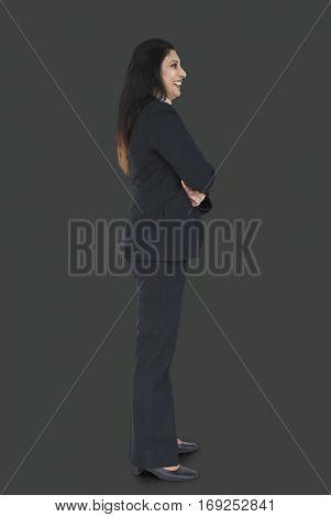 Businesswoman Smiling Happiness Portrait Concept