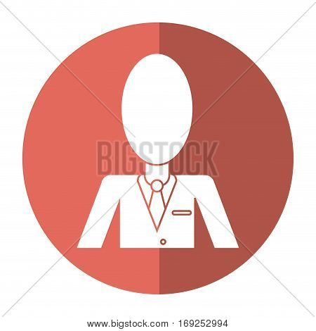business man suit necktie and portfolio shadow vector illustration eps 10