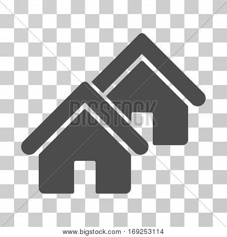 Realty icon. Vector illustration style is flat iconic symbol gray color transparent background. Designed for web and software interfaces.
