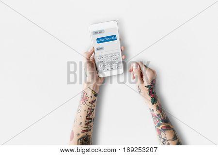 Online Communication connection Network Concept