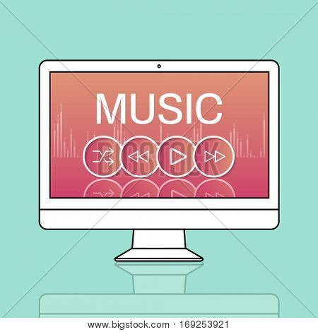 Music Soun Player Application Concept