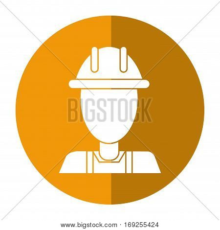 avatar construction man overalls shadow vector illustration eps 10