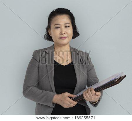 Asian Business Woman Positive Mood