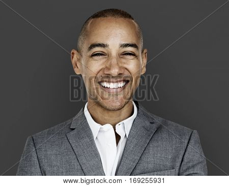 African Descent Business Man Smiling Concept