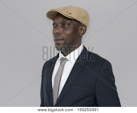 African Descent Man Hat Side Concept